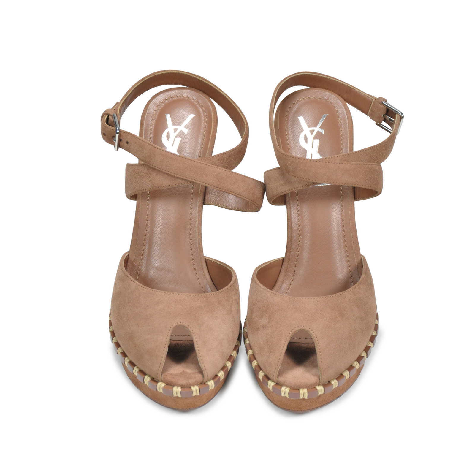 11ddecb0011 Authentic Second Hand Yves Saint Laurent Essential Suede Sandals (PSS-197- 00005) ...
