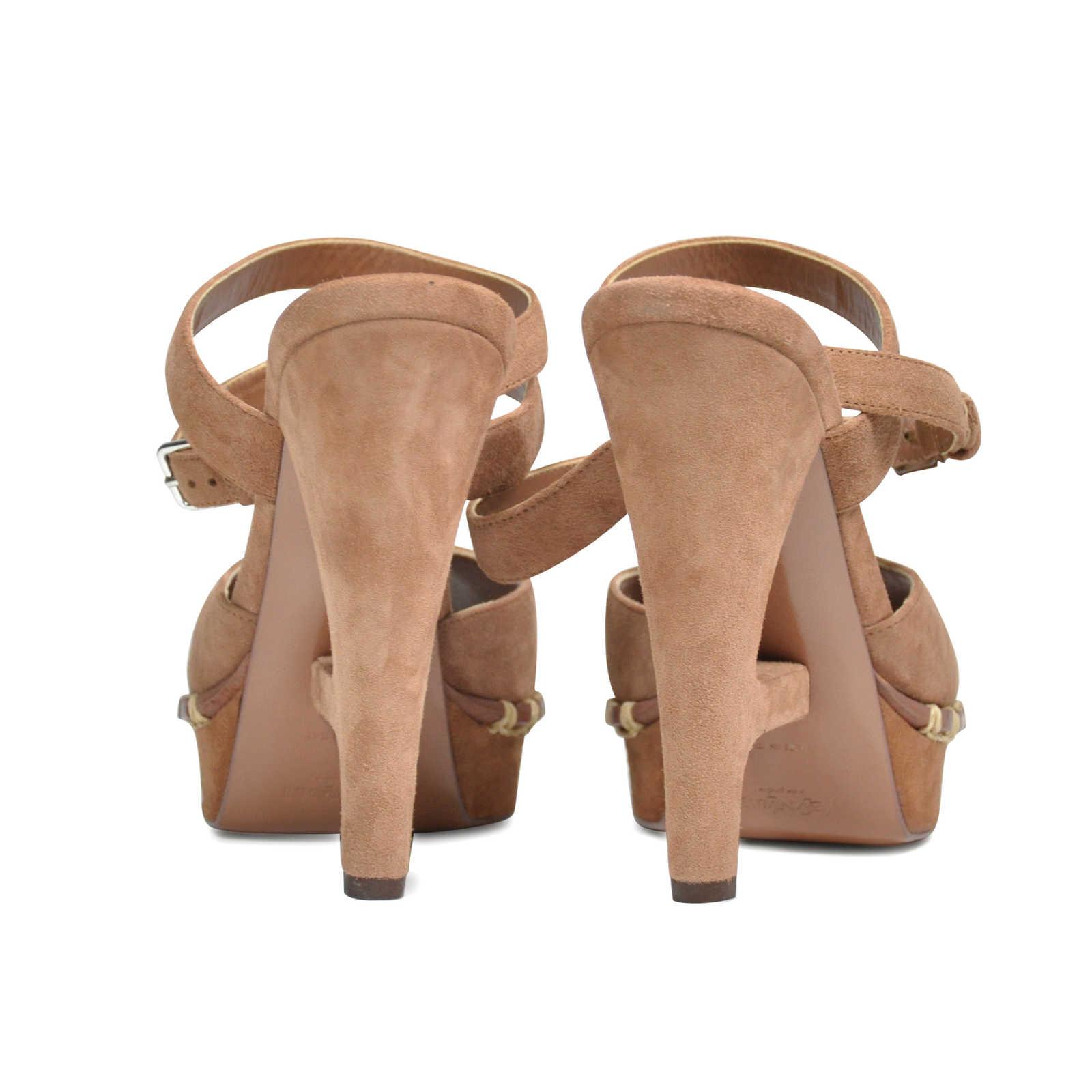 03be6d8e319 ... Authentic Second Hand Yves Saint Laurent Essential Suede Sandals (PSS -197-00005) ...