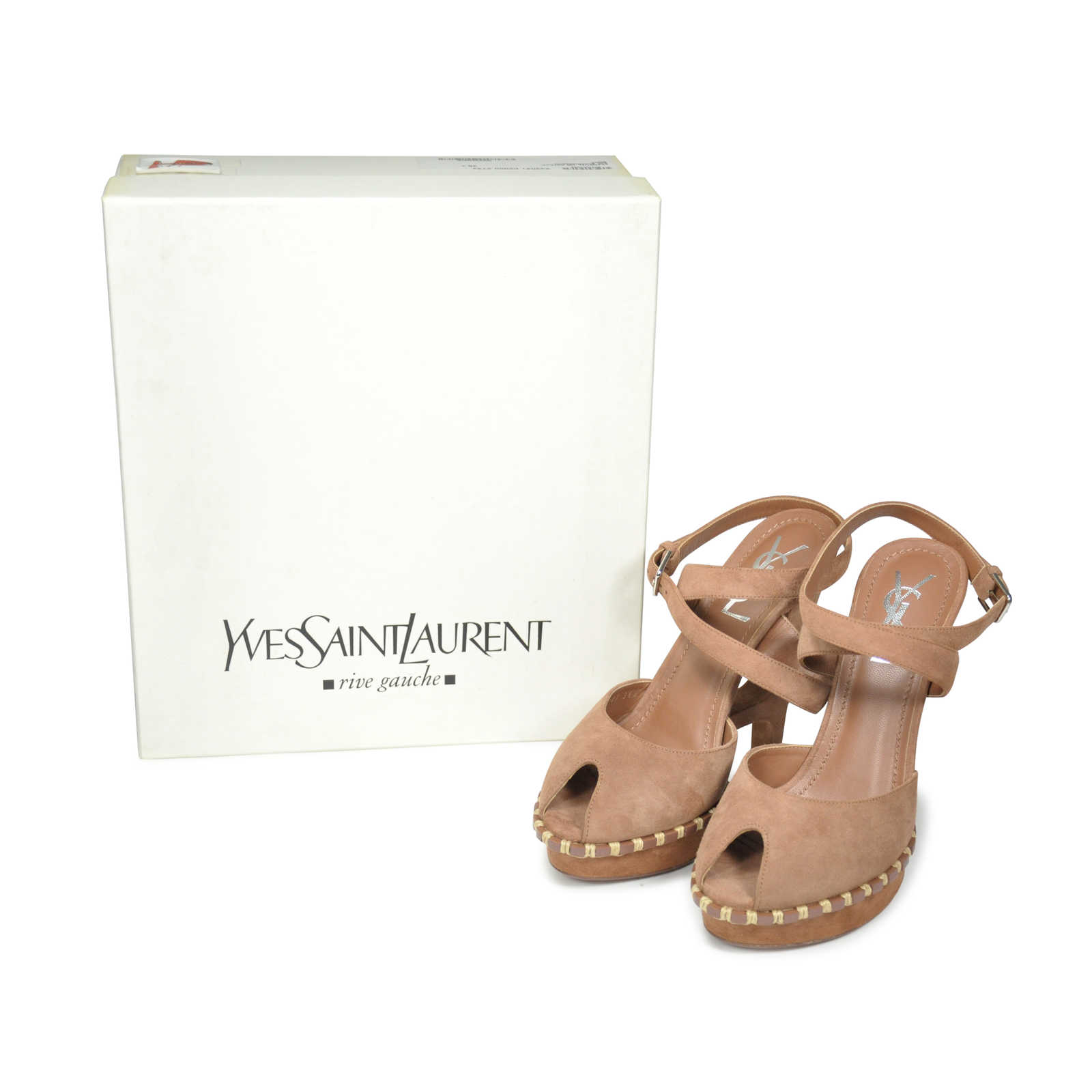 5cf36c9c7a8 ... Authentic Second Hand Yves Saint Laurent Essential Suede Sandals (PSS -197-00005)