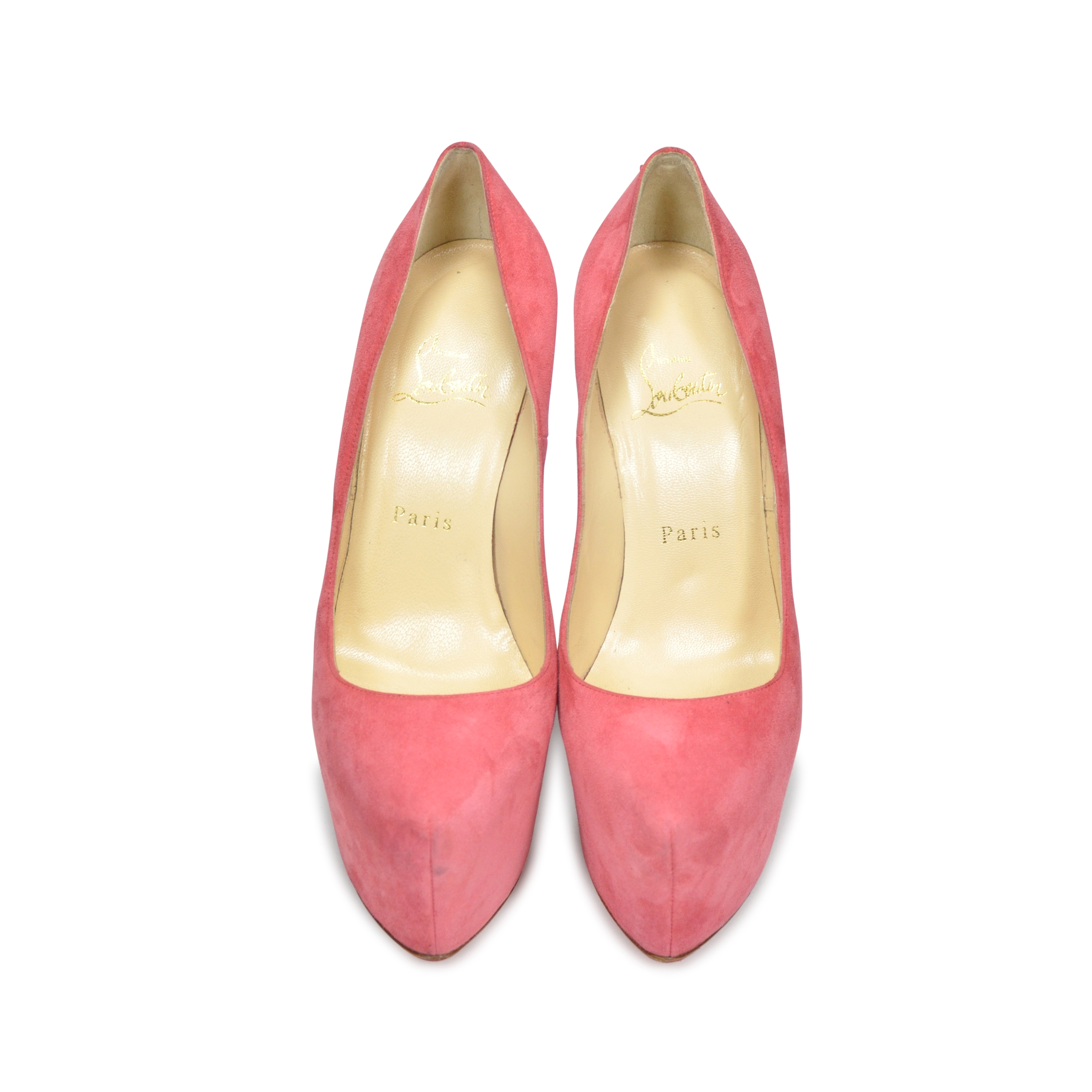 926bc3f56f9d Authentic Second Hand Christian Louboutin Suede Daffodile Pumps (PSS-197- 00006)