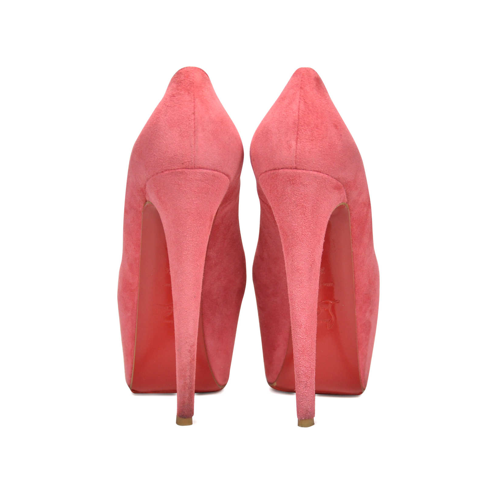 ce913210c669 ... Authentic Second Hand Christian Louboutin Suede Daffodile Pumps (PSS-197 -00006) ...
