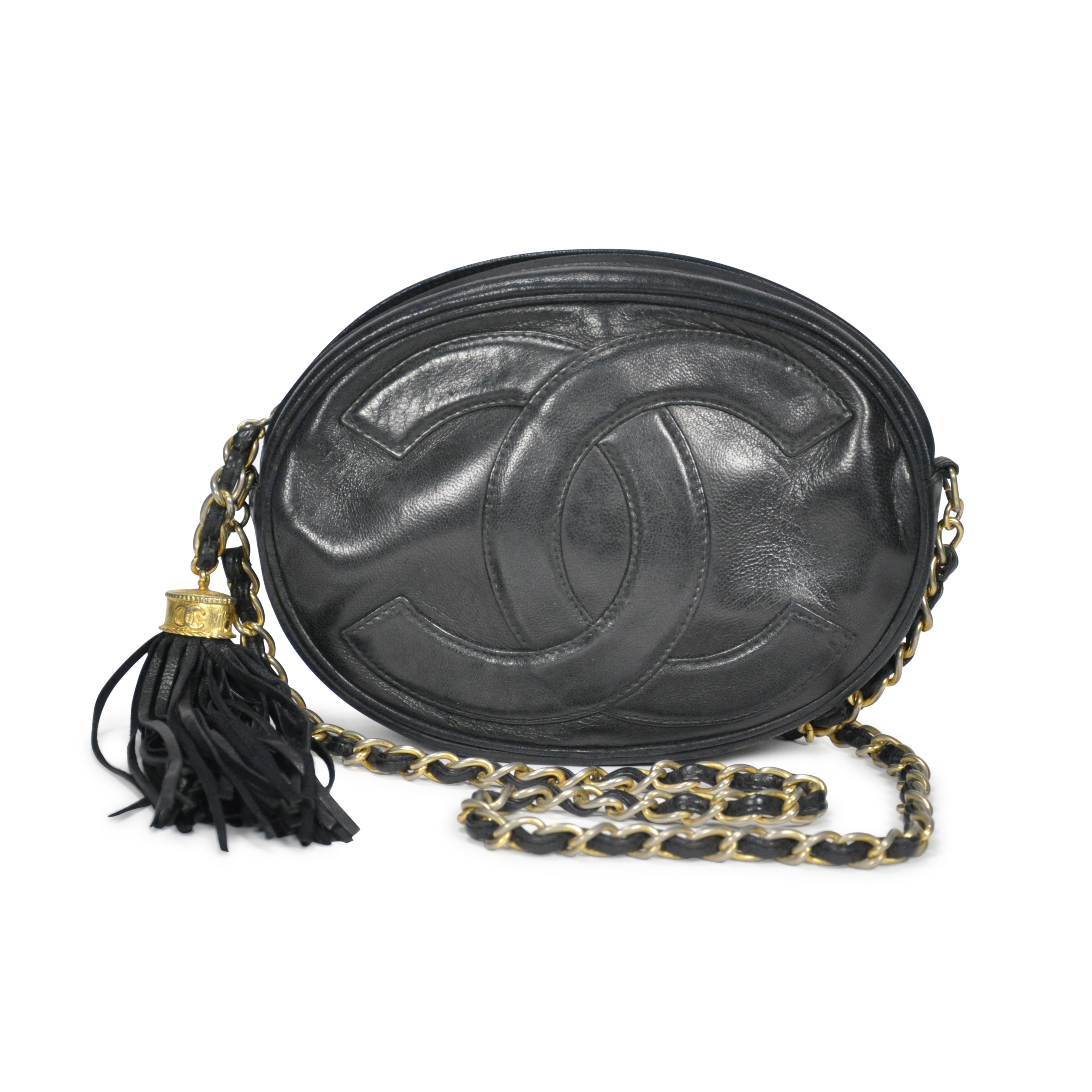 43da86eee6fb Authentic Vintage Chanel Oval Tassel Bag (PSS-201-00005)