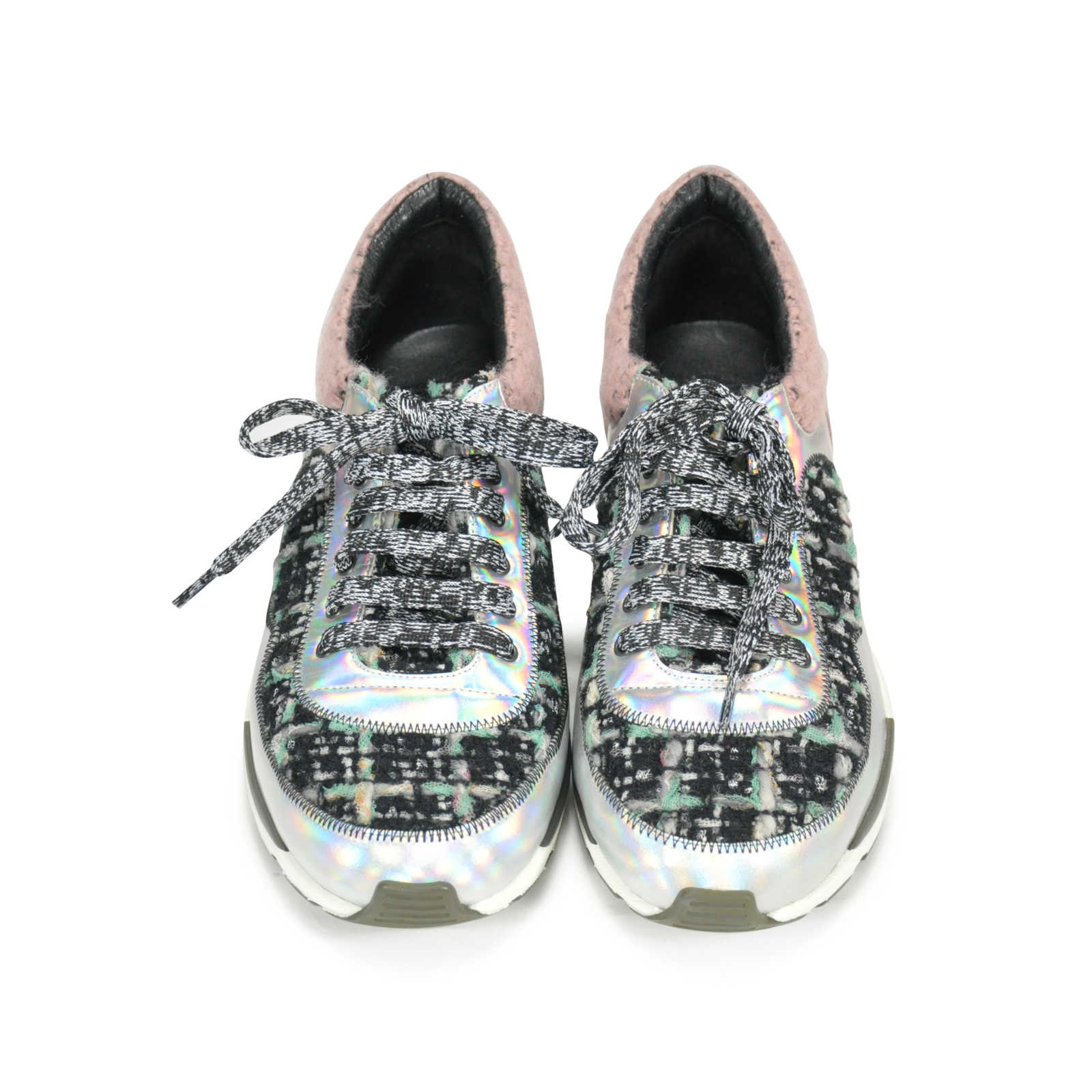 4c116fc17 Authentic Second Hand Chanel Tweed Sneakers (PSS-145-00073) - Thumbnail 0  ...