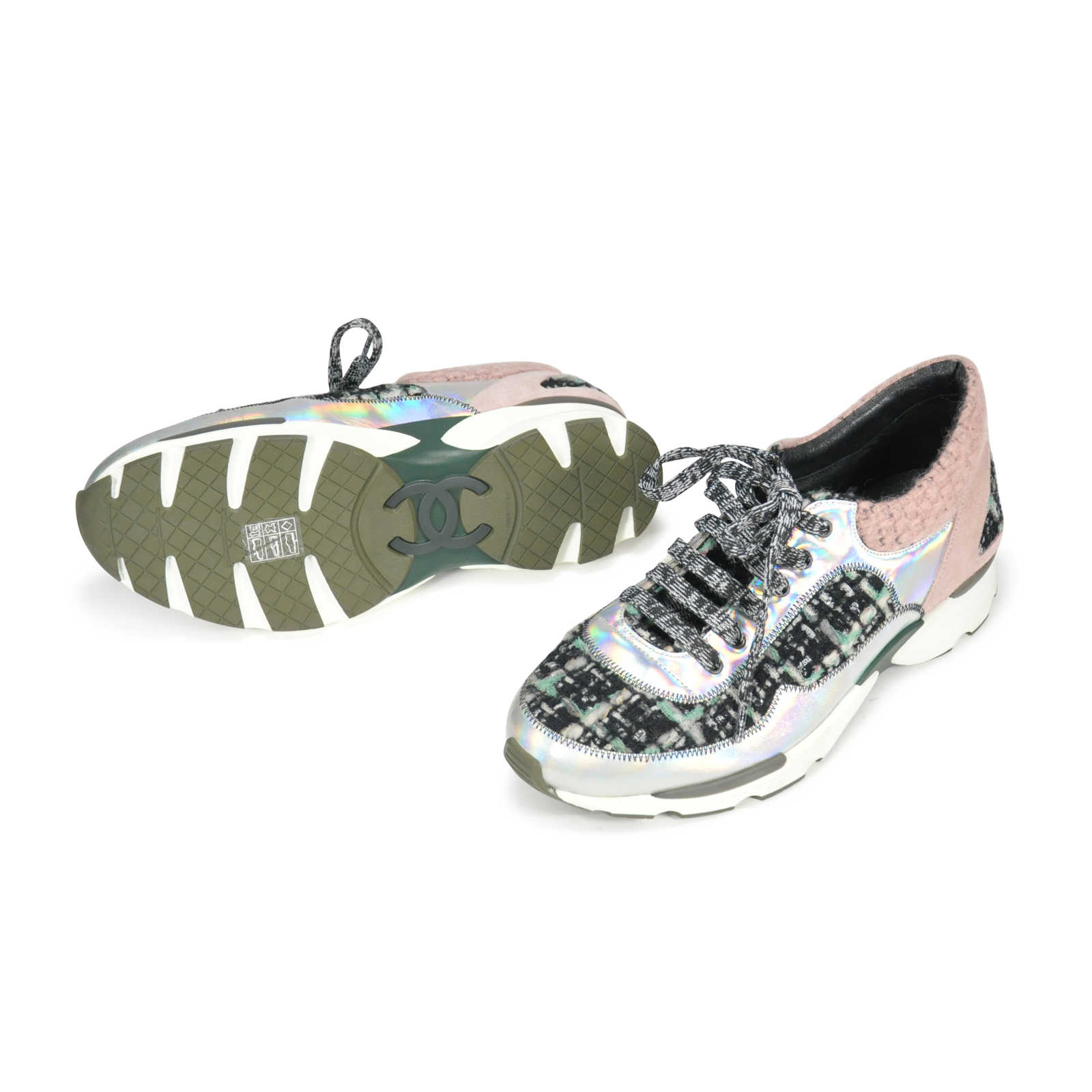 b2f2a4856 ... Authentic Second Hand Chanel Tweed Sneakers (PSS-145-00073) - Thumbnail  1 ...