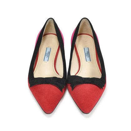Authentic Second Hand Prada Suede Pointed Toe Flats (PSS-145-00074)
