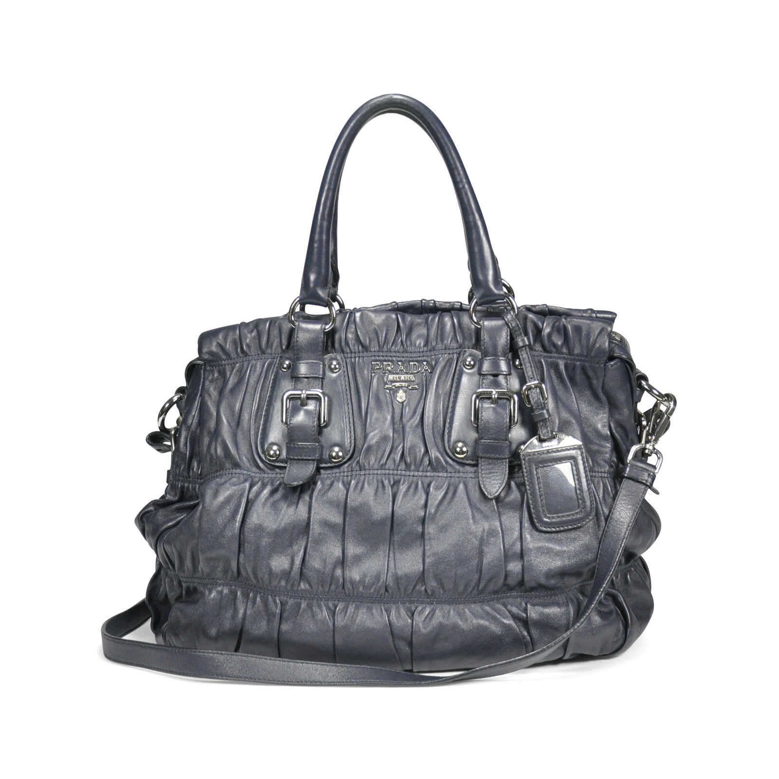 d9dc25b8a7b4 Authentic Second Hand Prada Nappa Gaufre Bag (PSS-199-00004) - Thumbnail ...