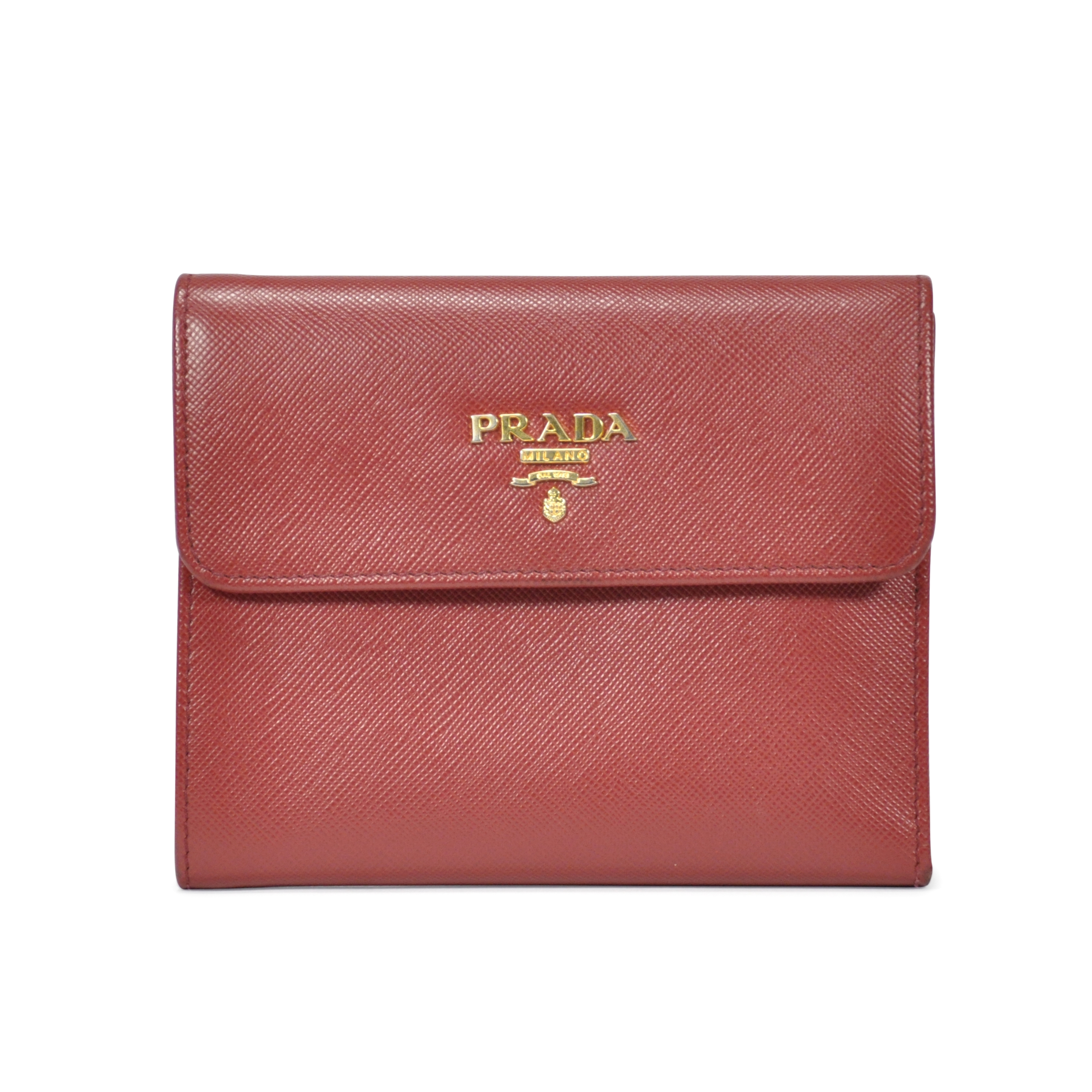 68687c3a7f5 ... uk authentic pre owned prada saffiano foldover wallet pss 199 00008 the  fifth collection 37963 7e464