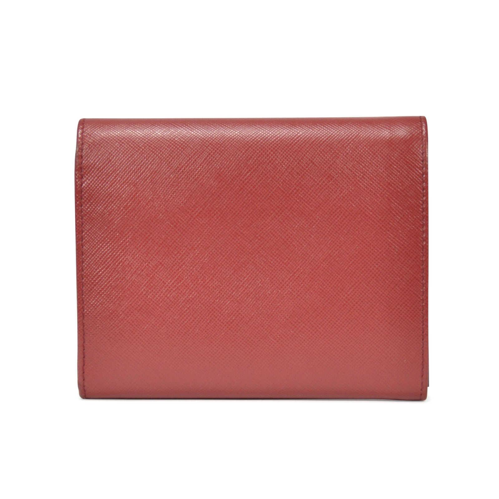 62c1c318 Authentic Second Hand Prada Saffiano Foldover Wallet (PSS-199-00008 ...