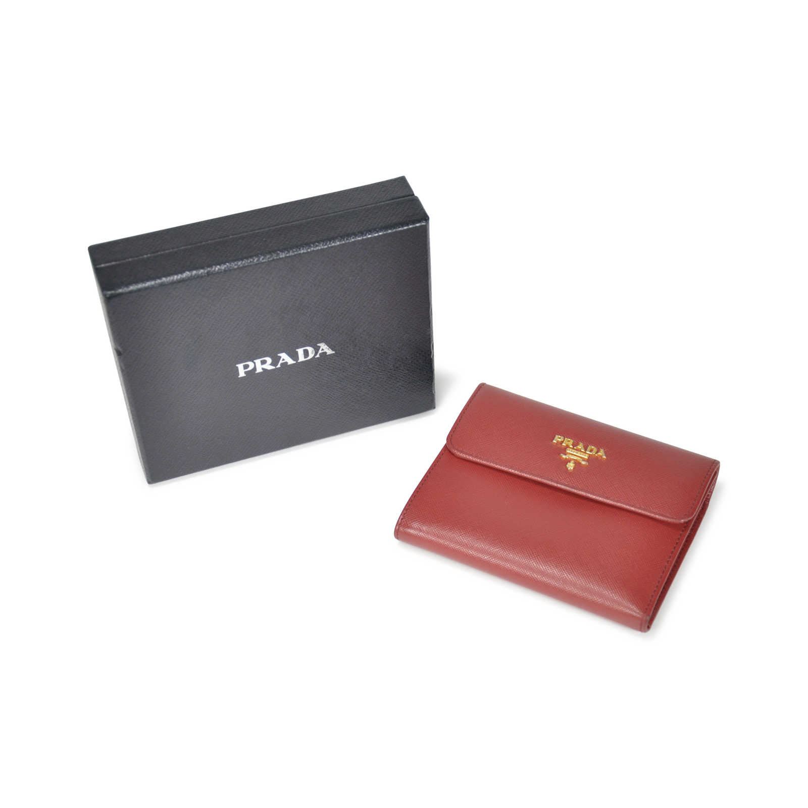 4697310d6785 ... low price authentic pre owned prada saffiano foldover wallet pss 199  00008 thumbnail 2927e c23d8