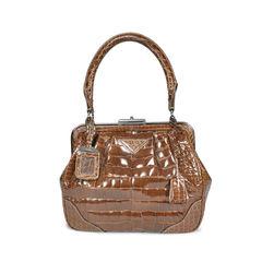 Crocodile Top Frame Bag
