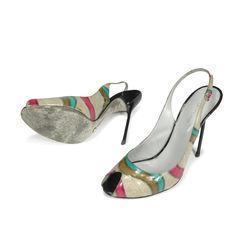 Sergio rossi eel skin sandals 2
