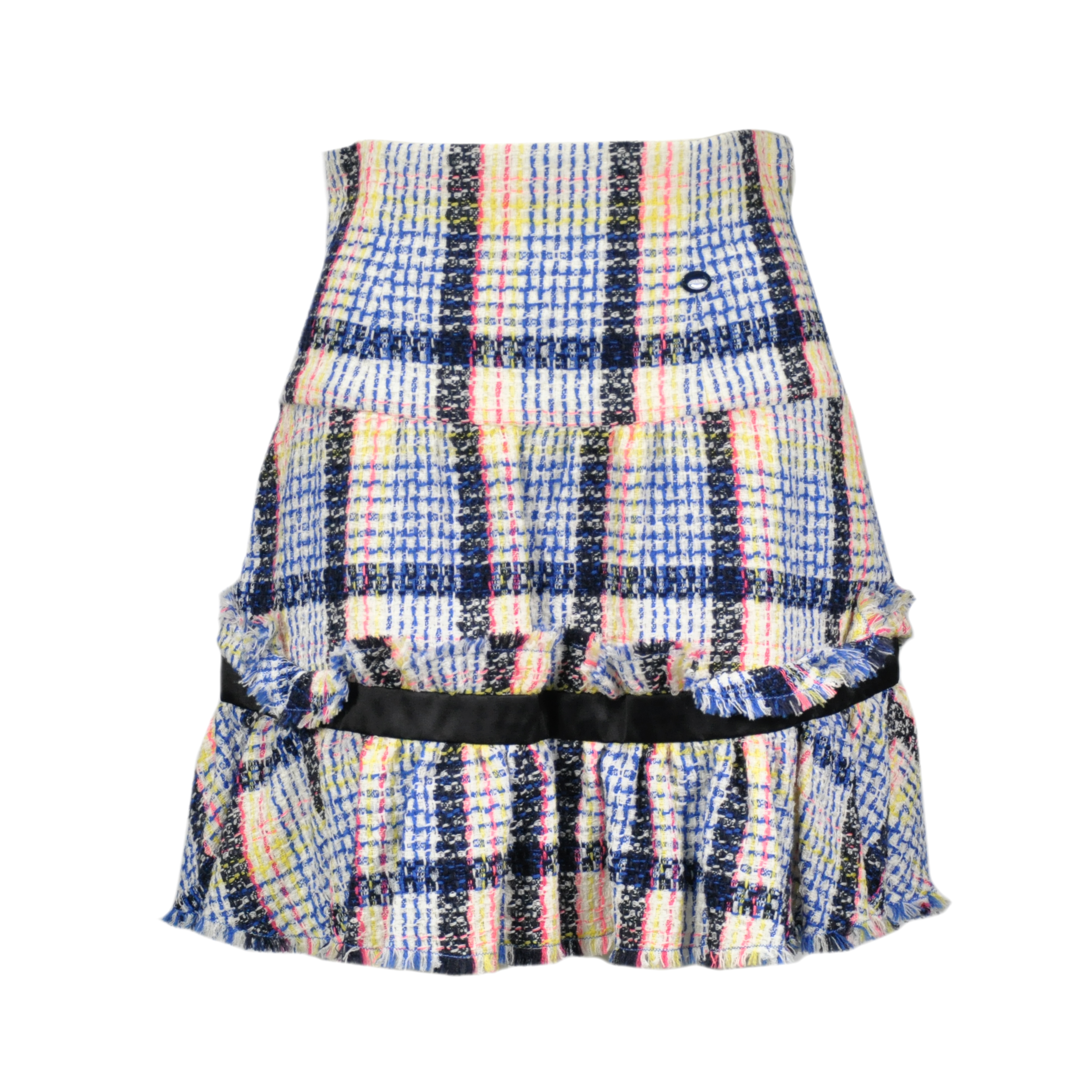 6be6fd68f7c1 Authentic Second Hand Chanel Ruffle Hem Tweed Skirt (PSS-200-00061 ...