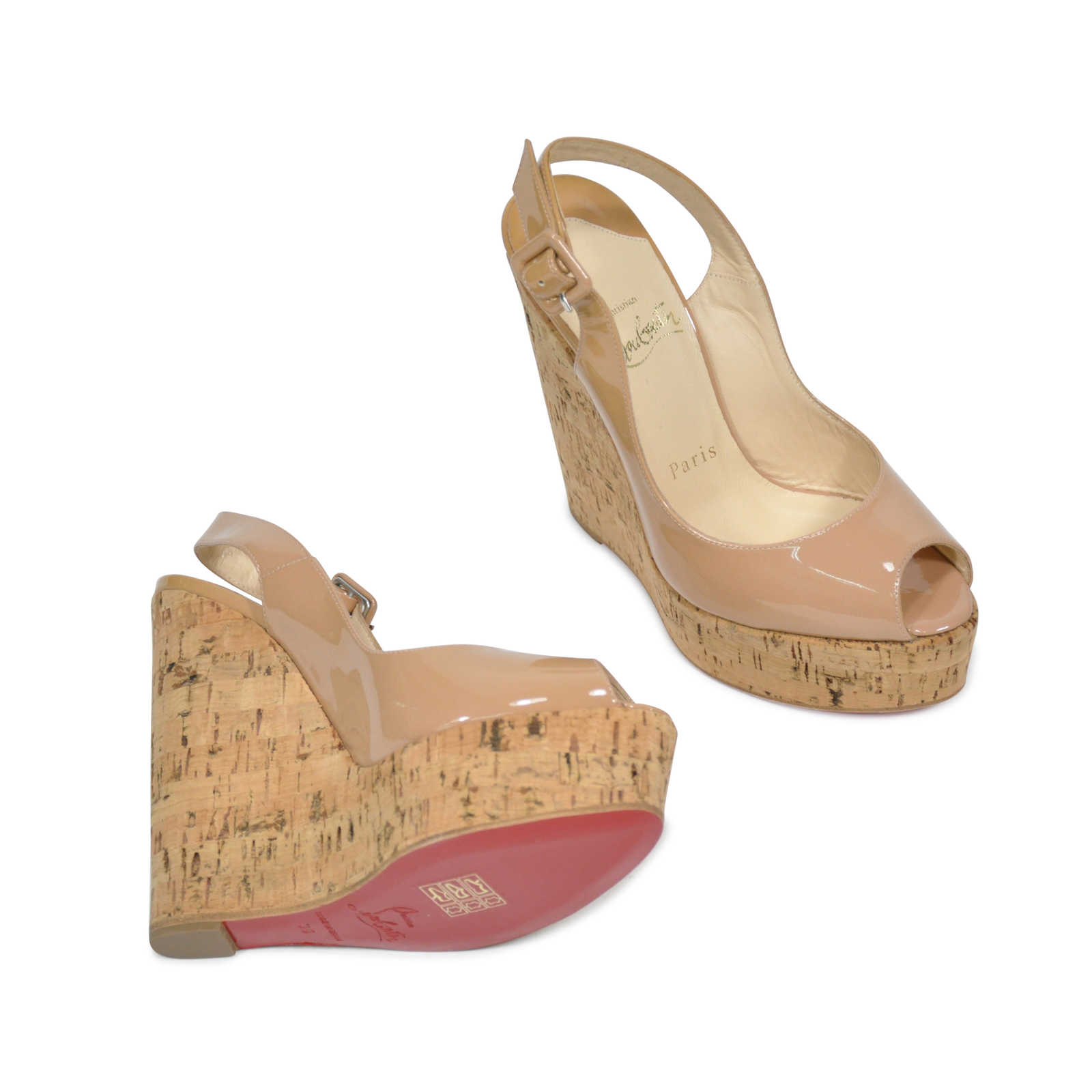 aaba80b92a13 ... coupon for christian louboutin une plume wedges thumbnail 2 28bc5 17c0c