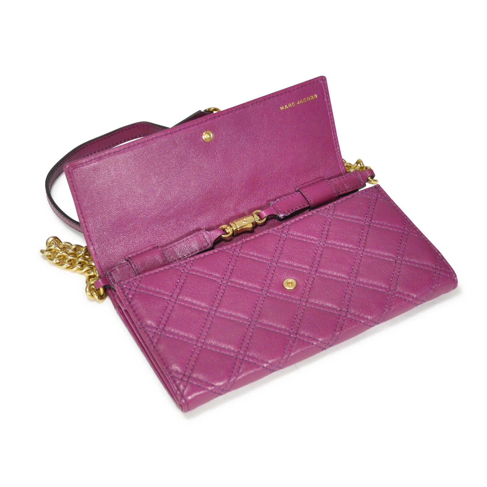 2b9baee5c18 ... Authentic Second Hand Marc Jacobs 'The Single' Quilted Crossbody Bag  (PSS-225 ...