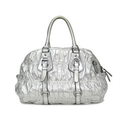 Prada nappa leather gaufre bauletto 1
