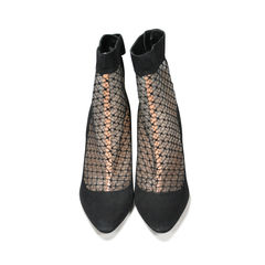 Mesh Pointed Toe Booties