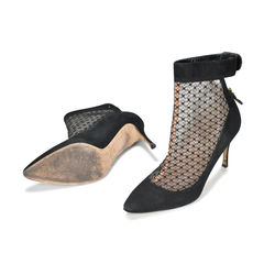Valentino mesh pointed toe booties 2