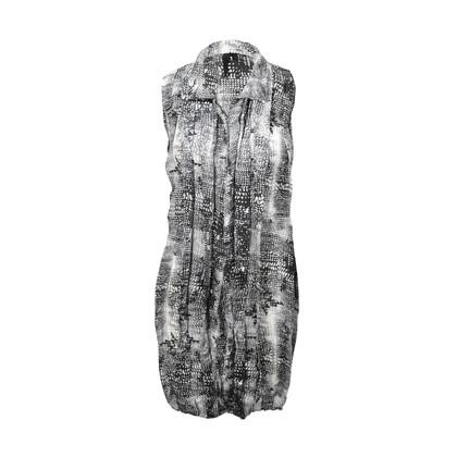 Authentic Second Hand Edun Printed Silk Shirt Dress (PSS-225-00003)