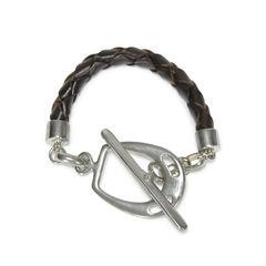 Modern Equestrian Leather Bracelet