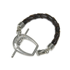 Lauren ralph lauren modern equestrian leather bracelet 2