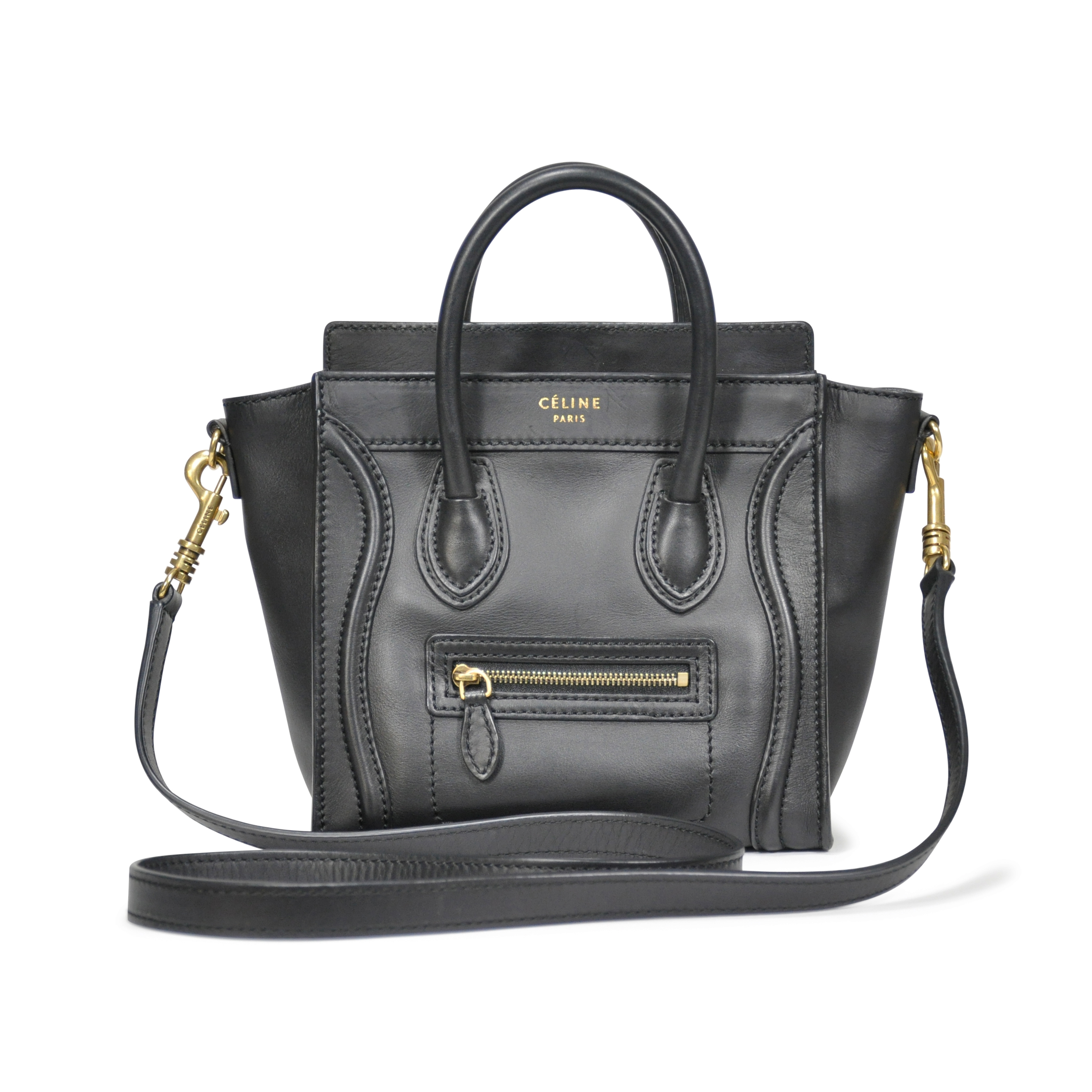 75b9af92c5d Authentic Pre Owned Céline Nano Luggage Bag (PSS-183-00038)   THE FIFTH  COLLECTION®