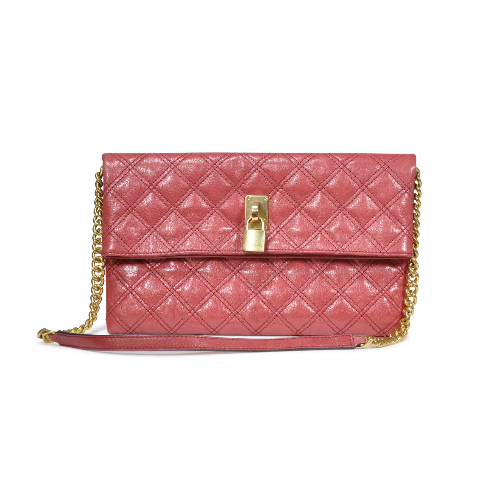 596f24094 Authentic Second Hand Marc Jacobs Sandy Foldover Convertible Shoulder  Clutch (PSS-225-00008 ...