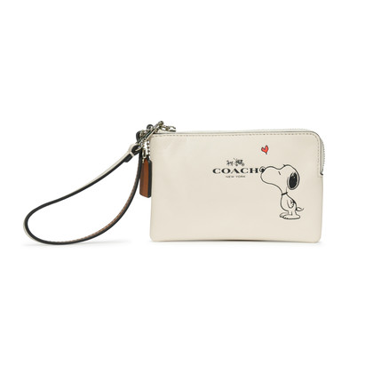 Authentic Second Hand Coach Peanuts Wristlet (PSS-229-00015)