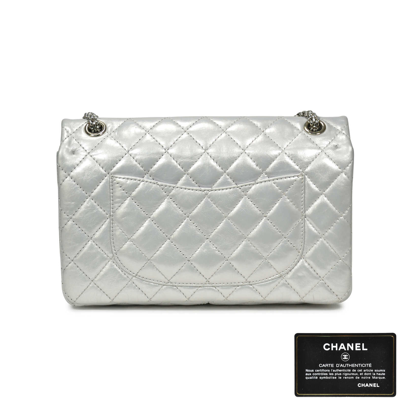 c963067cbe13 ... Authentic Second Hand Chanel Distressed Leather Reissue 2.55  (PSS-183-00054) ...