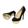 Authentic Second Hand Charlotte Olympia Dolly Suede Platform Pumps (PSS-183-00057) - Thumbnail 1