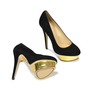 Authentic Second Hand Charlotte Olympia Dolly Suede Platform Pumps (PSS-183-00057) - Thumbnail 2
