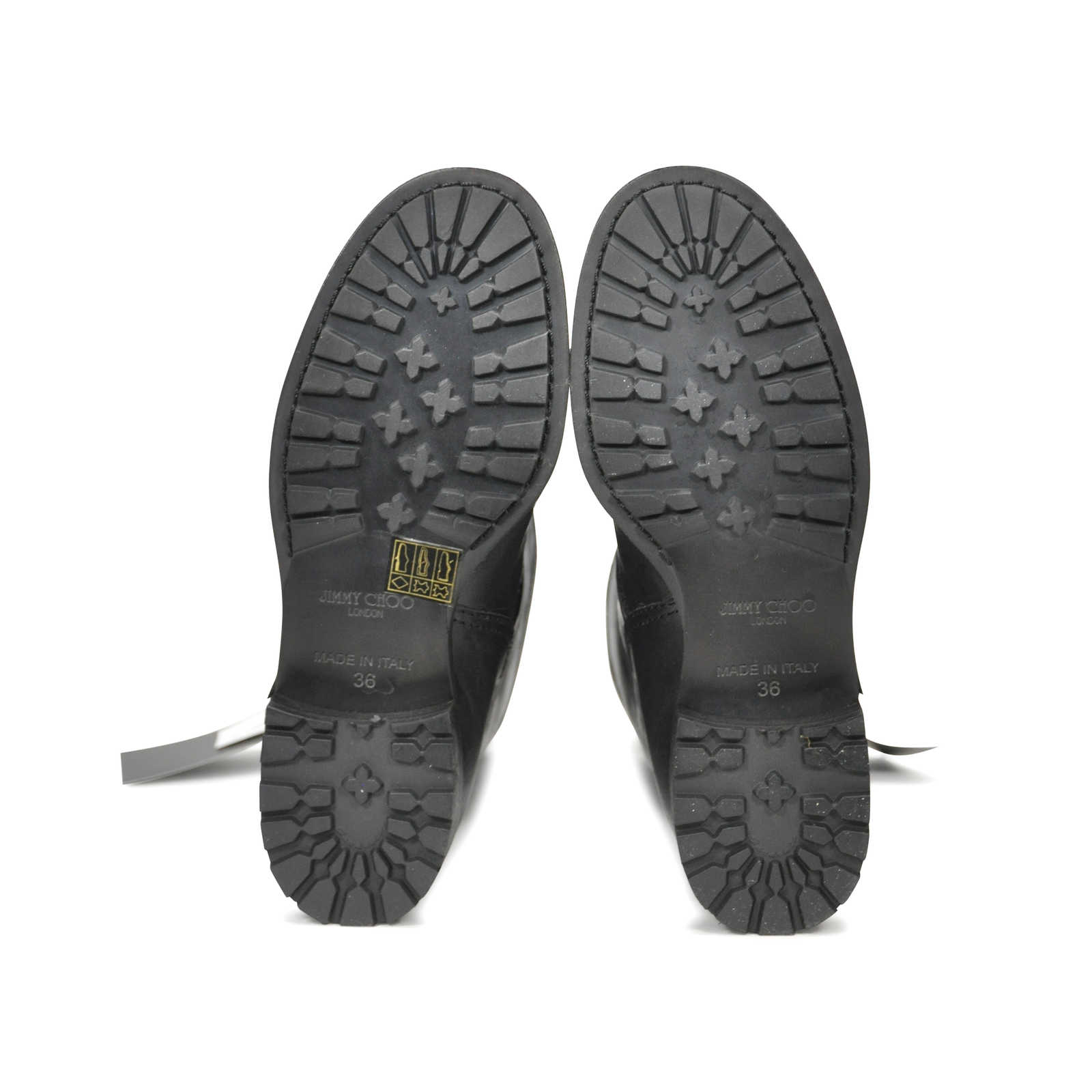 7167dd72f88 ... Authentic Second Hand Jimmy Choo Biker Rabbit Fur Leather Boots  (PSS-183-00063 ...