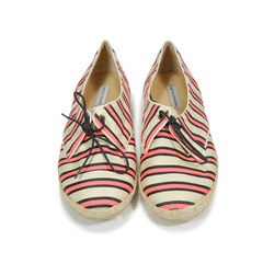 Dolly Cricket Striped Silk and Linen Lace-ups Sneakers