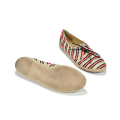 Tabitha simmons dolly cricket striped silk and linen lace ups sneakers 2