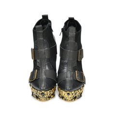 Floral Engraved Leather Boots
