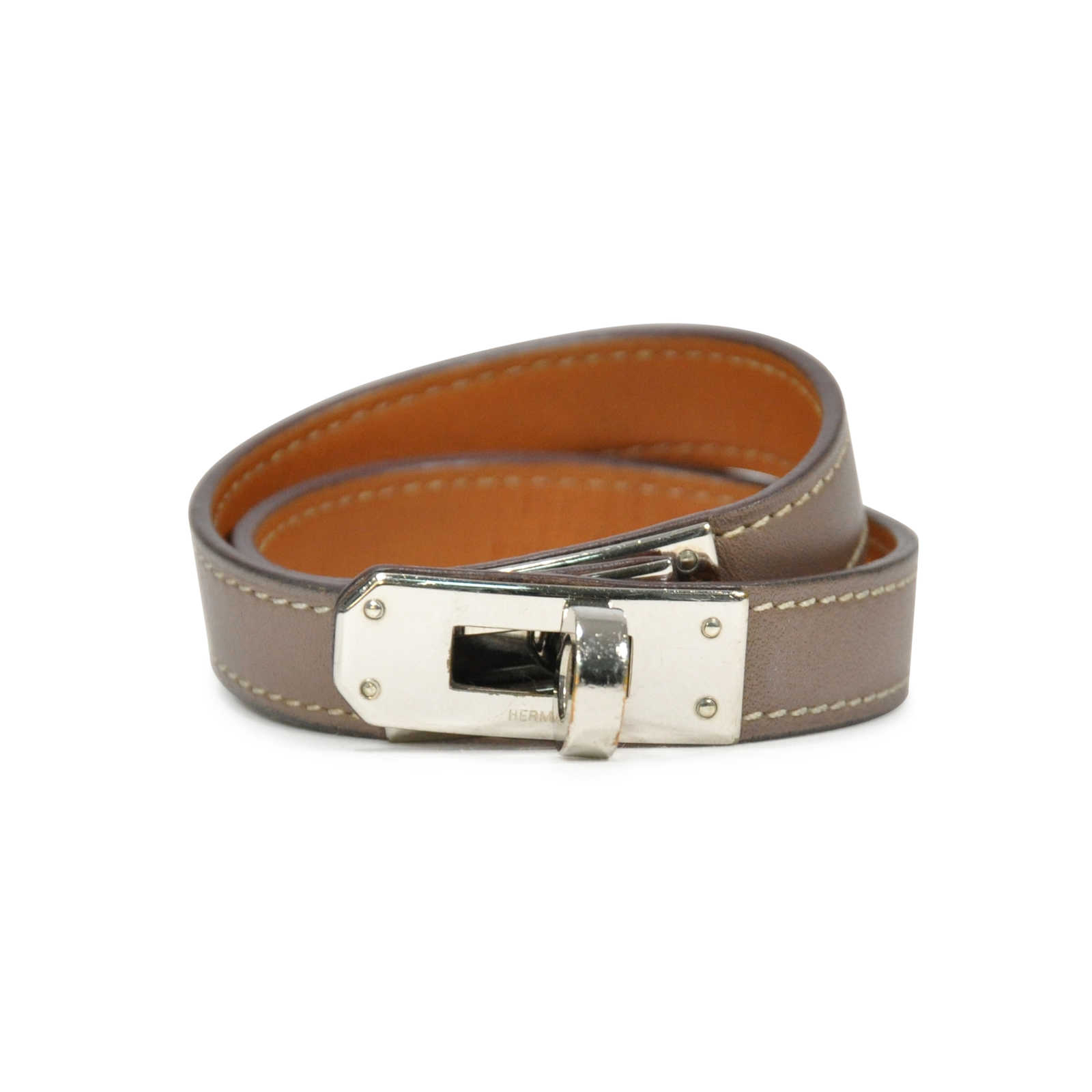9688058e0a21 Authentic Second Hand Hermès Kelly Double Tour Bracelet (PSS-190-00025) ...
