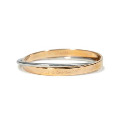 Authentic Second Hand CK Calvin Klein 2 Toned Coil Bracelet (PSS-190-00030)