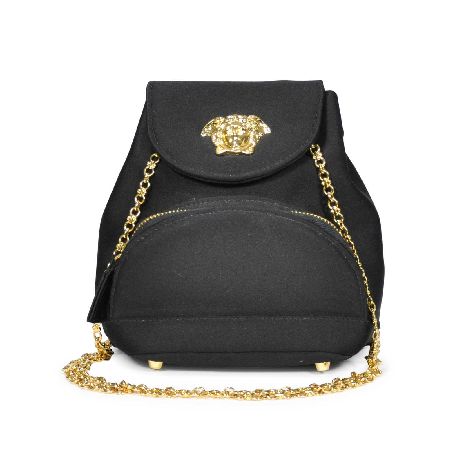 bb8d1fb3deb Tap to expand · Authentic Vintage Versace Medusa Satin Bag (PSS-045-00081)  - Thumbnail 0 ...