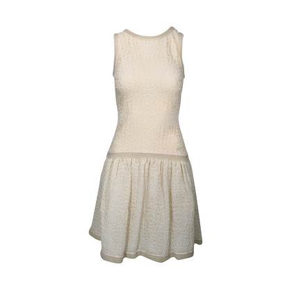 Authentic Second Hand Chanel Rubber Trim Knit Dress (PSS-235-00051)