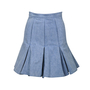Authentic Second Hand Balmain Pleated Denim Skirt (PSS-235-00055) - Thumbnail 0