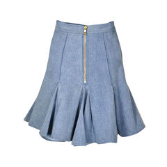 Balmain pleated denim skirt 2