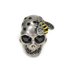 Skull and Bee Ring