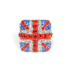 Union Jack Crystal Ring