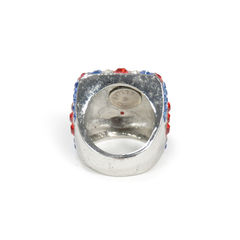 Butler and wilson union jack crystal ring 2