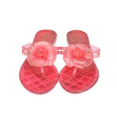Camellia Glitter Thong Sandals