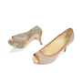 Authentic Second Hand Giuseppe Zanotti Suede Peep Toe Pumps (PSS-235-00006) - Thumbnail 1