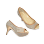 Authentic Second Hand Giuseppe Zanotti Suede Peep Toe Pumps (PSS-235-00006) - Thumbnail 2