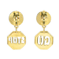 Moschino stop go earrings 2