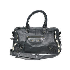 Twist Leather Trim Motorcycle Polly Bag