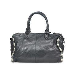 Balenciaga twist leather trim motorcycle city bag 2