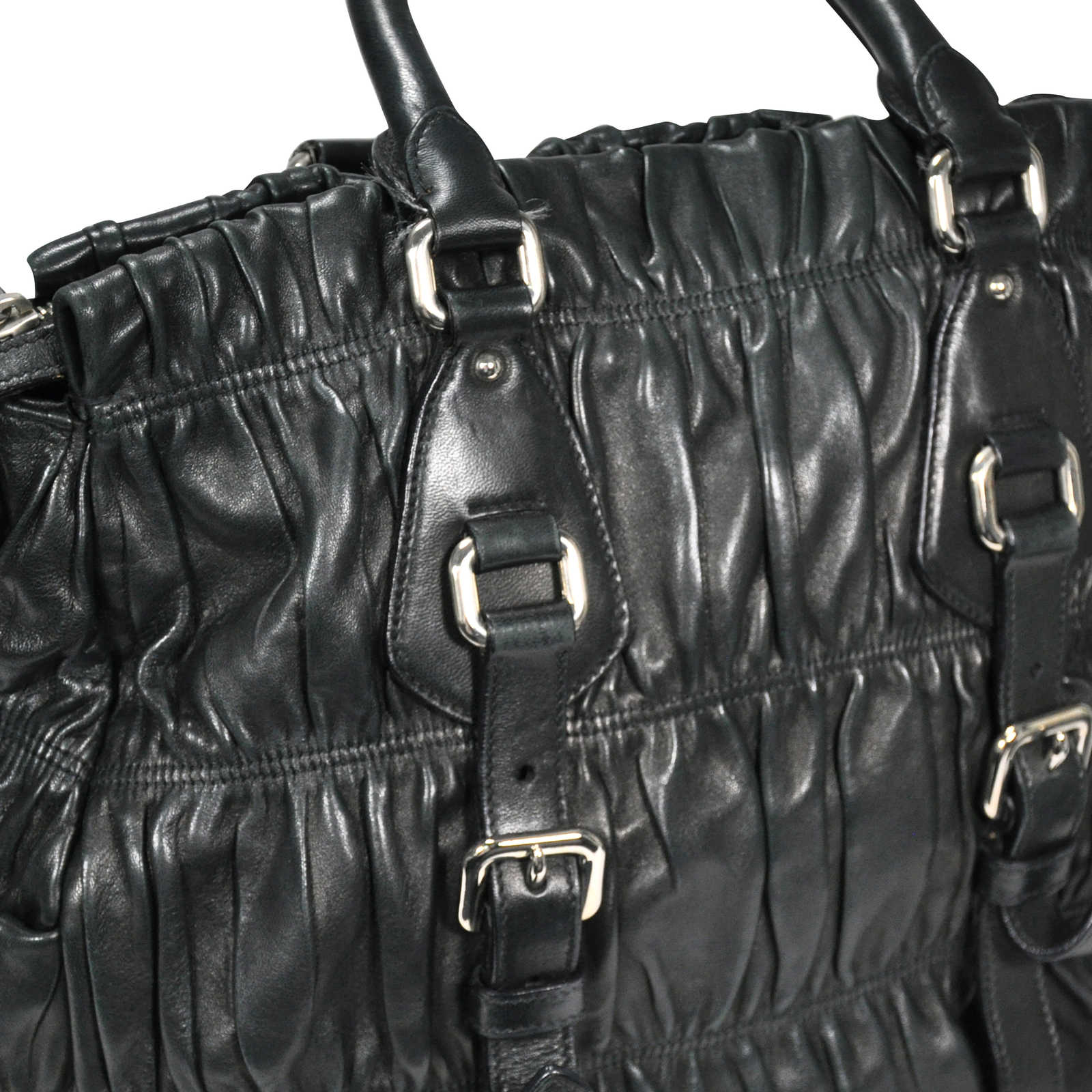 2ff9f6350f6d ... Authentic Second Hand Prada Nappa Gaufre Leather Satchel  (PSS-200-00031) ...
